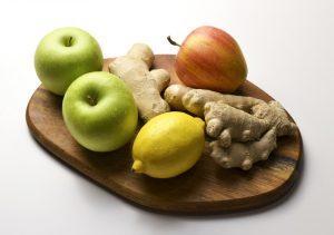 Ingefærshot med æble